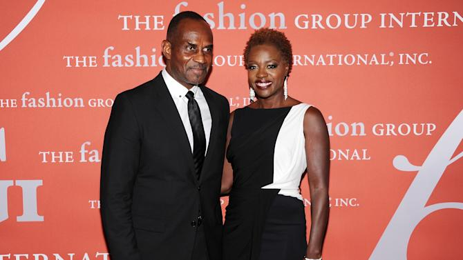 """Actress Viola Davis and her husband Julius Tennon attend the 29th Annual """"Night Of Stars"""" presented by The Fashion Group International at Cipriani Wall Street on Thursday Oct. 25, 2012 in New York. (Photo by Evan Agostini/Invision/AP)"""