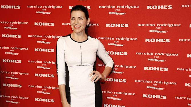 Actress Julianna Margulies attends the Kohl's Narciso Rodriguez collection launch celebration at The IAC Building on Monday, Oct. 22, 2012 in New York. (Photo by Andy Kropa/Invision/AP)