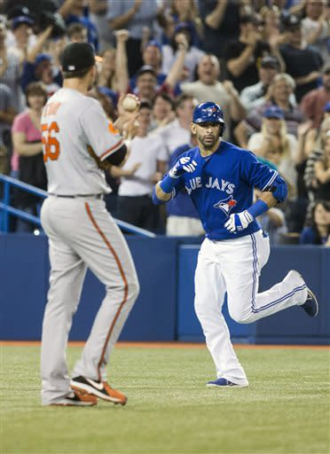 Bautista, Blue Jays beat Orioles for 10th straight