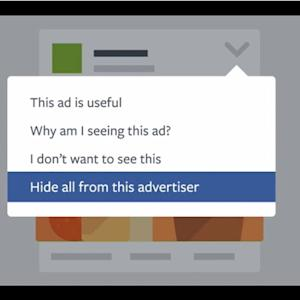 FACEBOOK LETS YOU HAVE SAY OVER ADS