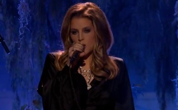 Lisa Marie Presley Performs On 'American Idol' Results Show