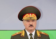 Belarus&#39; sports-mad President Alexander Lukashenko, pictured in 2011, will not be able to attend the London Olympics because of EU sanctions against his regime, the British embassy in Minsk said Wednesday