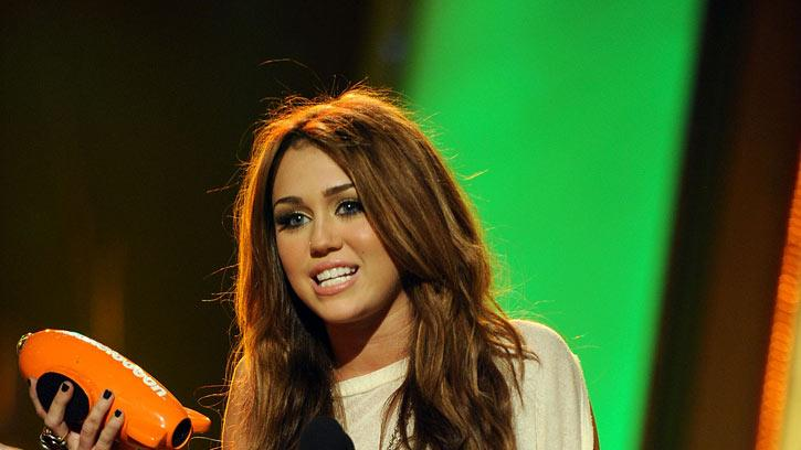 Miley Cyrus onstage at Nickelodeon's 23rd Annual Kids' Choice Awards held at UCLA's Pauley Pavilion on March 27, 2010 in Los Angeles, California.