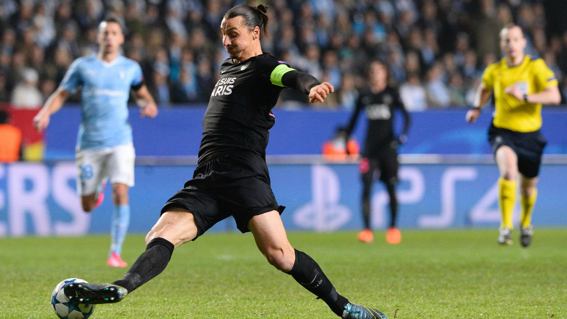 Malmo 0 Paris Saint-Germain 5: Ibrahimovic on target as Blanc's side cruise through