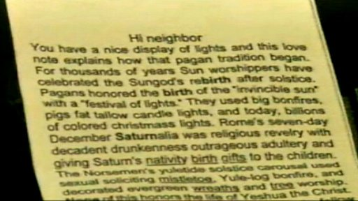 Mich. Residents Receive Letter Calling Christmas Lights 'Pagan'