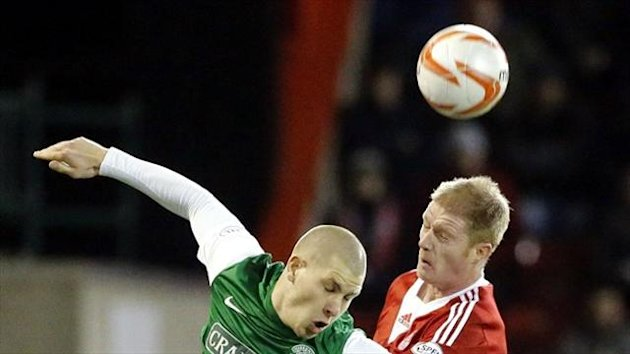 Alan Tate, right, enjoyed a winning debut for Aberdeen