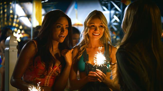"""This film image released by The Weinstein Company shows Meagan Tandy, left, and Katrina Bowden in a scene from """"Piranha 3DD."""" (AP Photo/The Weinstein Company)"""