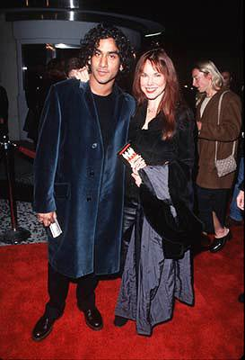 Naveen Andrews and Barbara Hershey at the premiere of Gramercy's Lock, Stock and Two Smoking Barrels