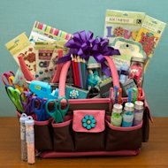 Gift basket for crafty mom