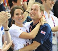 Catherine, Duchess of Cambridge and Prince William, seen during Day 6 of the London 2012 Olympic Games at Velodrome in London n August 2, 2012 -- Getty Images