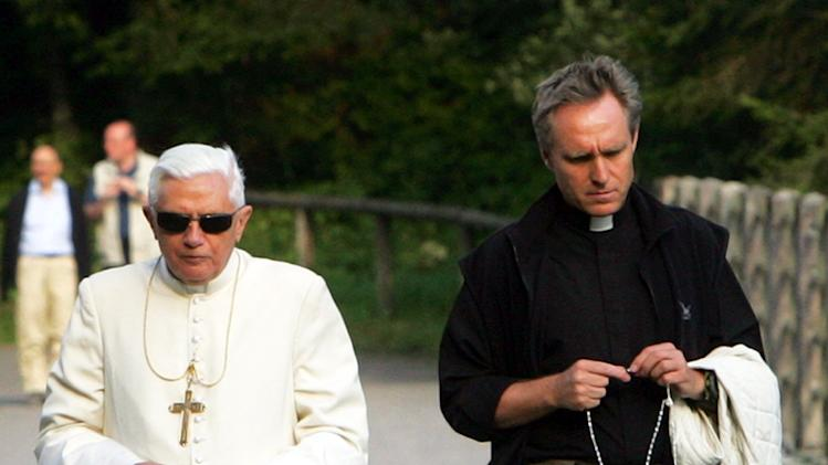Pope Benedict XVI and Georg Ganswein