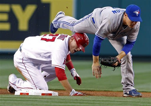 Morrow 3-hits Angels to lead Blue Jays to 5-0 win