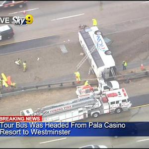 20 Injured In Tour Bus Crash On Interstate 15 In Corona