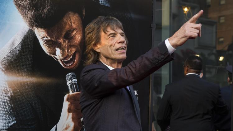 File photo of Jagger attending the premiere of 'Get on Up' in New York
