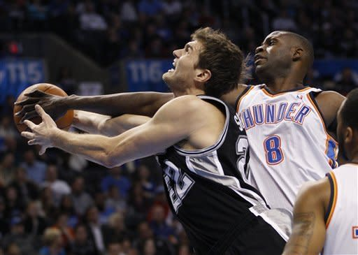 Thunder beat Spurs 108-96 to win 3rd in 3 nights