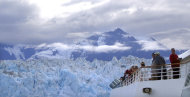 File- This August 2007 file photo shows the Hubbard Glacier in Alaska as seen from the deck of Royal Caribbean's Radiance of the Seas cruise ship. Planning a vacation with three generations _ grandparents, parents and kids _ can be tricky. An Alaskan cruise is one way to go. (AP Photo/Beth J. Harpaz, File)