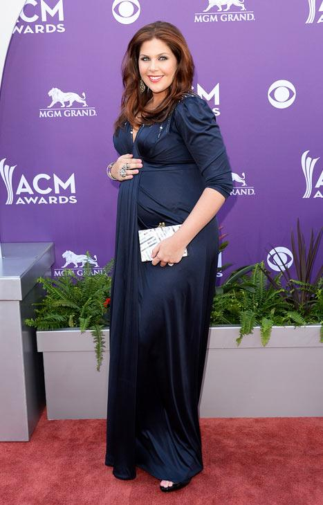 Hillary Scott Debuts Baby Bump in A Pea in the Pod Dress at Academy of Country Music Awards: Picture