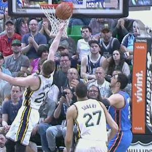 Gobert Blocks, Hayward Scores