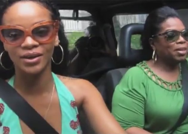 RiRi takes Oprah for a spin... Copyright [OWN]
