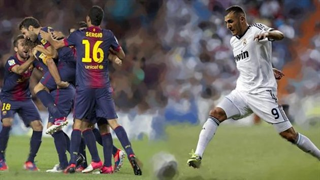 Supercopa 2012 montaje Benzema Barcelona Real Madrid