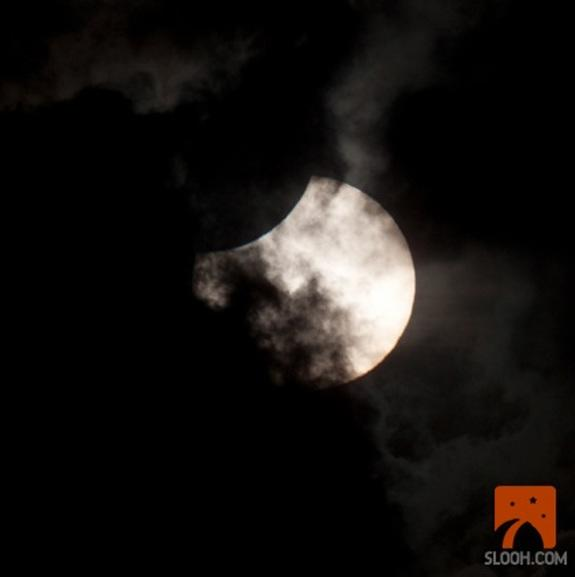 Total Solar Eclipse of 2012 Begins: First Photos