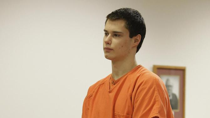"""FILE - In this Dec. 16, 2011 file photo, Colton Harris-Moore, also known as the """"Barefoot Bandit,"""" stands in Island County Superior Court in Coupeville, Wash. Jonathan Standridge, a Boeing project manager, is serving as a mentor to Harris-Moore while Harris-Moore serves time in prison for series of thefts that included boats, cars and airplanes. (AP Photo/Ted S. Warren, File)"""