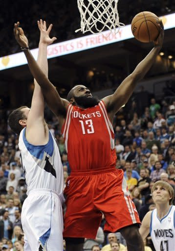 Harden lifts Rockets to 87-84 win over Wolves