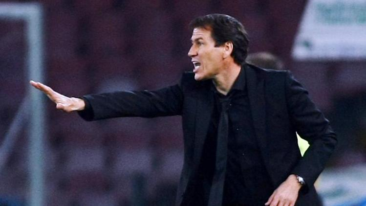 Roma coach Rudi Garcia pictured during his side's Serie A match against Napoli in Naples on March 9, 2014