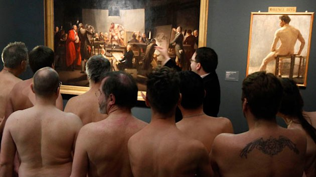 Naked Men Tour Nudes Museum Show (ABC News)
