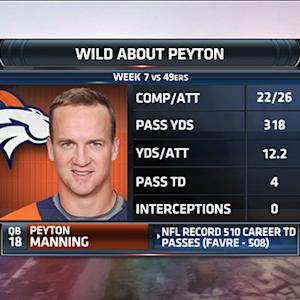 Peyton Manning breaks Favre's TD pass record