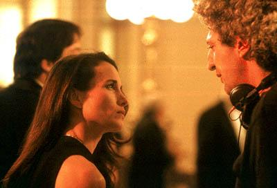 Andie MacDowell and director Elie Chouraqui on the set of Universal Focus' Harrison's Flowers