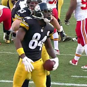 Big touchdown catch by Pittsburgh Steelers wide receiver Antonio Brown