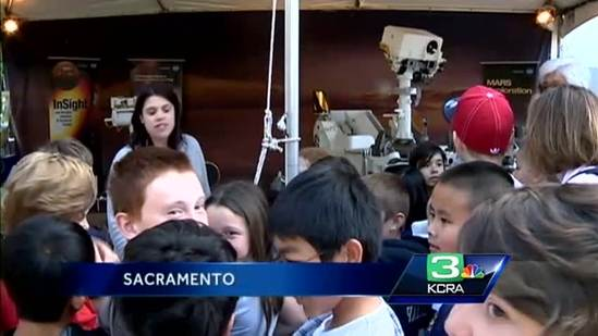 NASA spacecraft on display at State Capitol