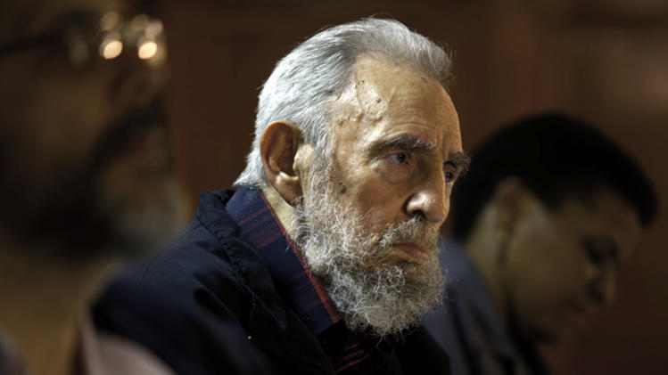 In this Feb. 10, 2012 file photo released by the state media website Cubadebate, Fidel Castro attends a meeting with intellectuals and writers at the International Book Fair in Havana, Cuba.  Castro turns 86 on Monday, Aug. 13, 2012. (AP Photo/Cubadebate, Roberto Chile, File)