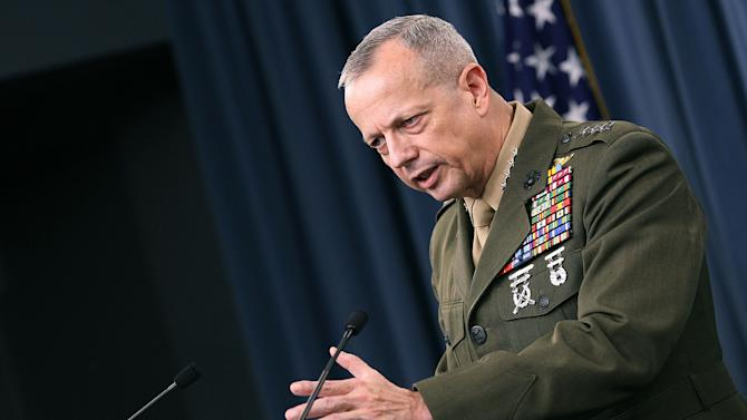 ISAF Commander Gen. John R. Allen Briefs Media At Pentagon
