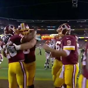 Washington Redskins running back Evan Royster gives Redskins lead