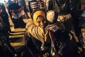 Egyptians celebrate in Tahrir square after a new constitution …