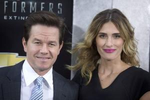 "Actor Mark Wahlberg and wife Rhea Durham arrive for the premiere of the movie ""Transformers: Age of Extinction"" in New York"