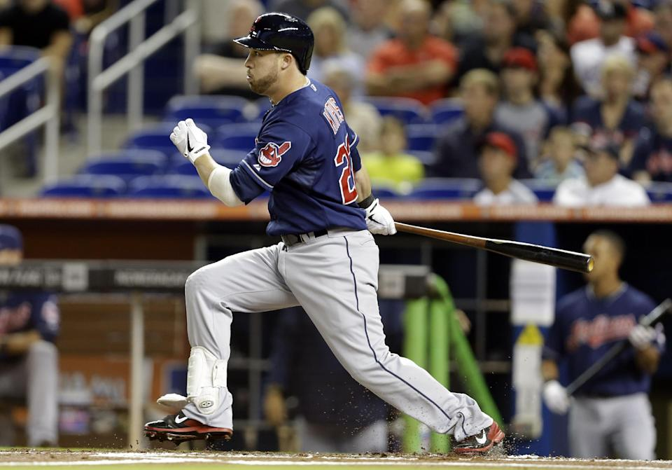 Indians steal 6 bases and beat Marlins 4-3