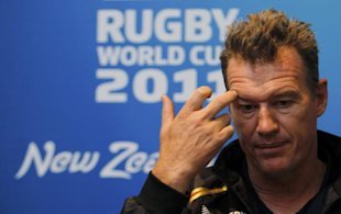 Japan coach John Kirwan listens to questions during a news conference in Auckland