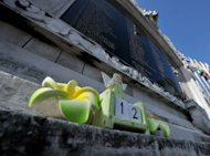 An angel doll is attached at the monument to the October 12, 2002 Bali bombings. Indonesia declared its top security alert Wednesday, citing &quot;credible information&quot; of a threat to a ceremony this week marking the 10th anniversary of the Bali bombings which killed 202 people