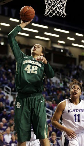 Griner leads No. 1 Baylor women past K-State 90-69