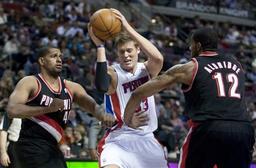 Stuckey, Pistons hold on to beat Blazers 94-91