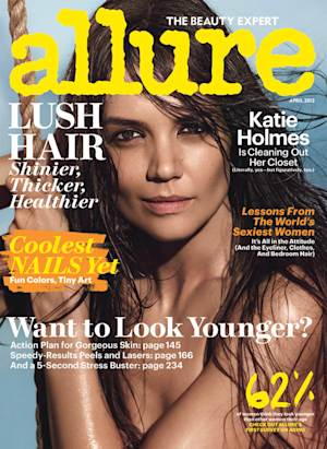 This magazine cover image released by Allure shows actress Katie Holmes on the cover of the April 2013 issue. (AP Photo/Allure)