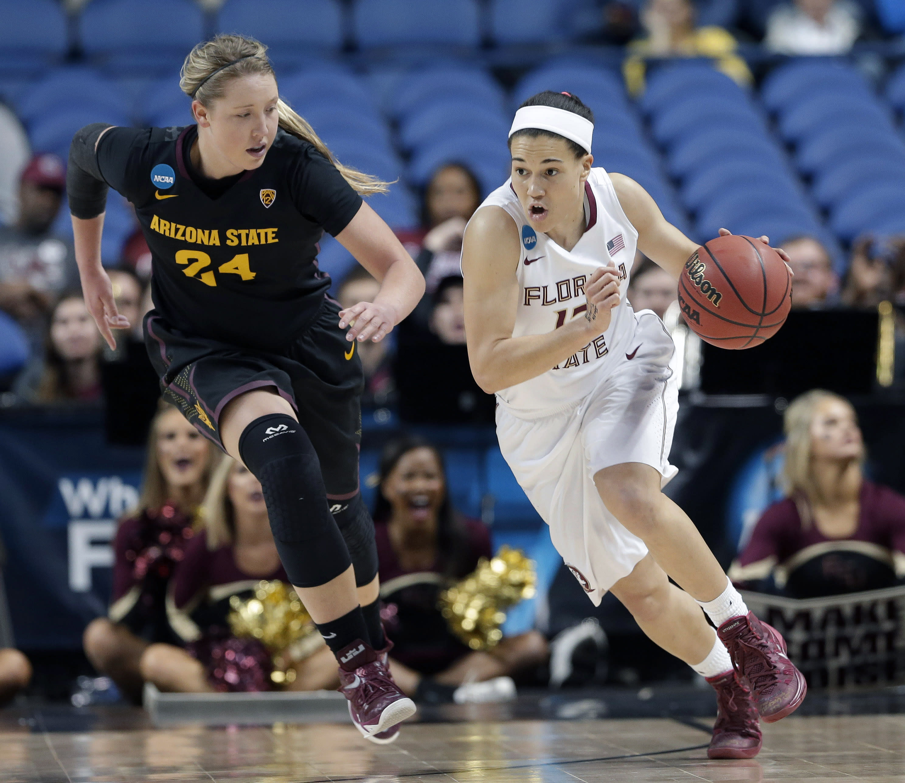 FSU women reach Elite Eight by beating Arizona St, 66-65
