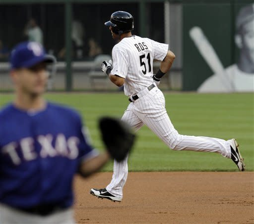 White Sox pound Oswalt and Rangers 19-2