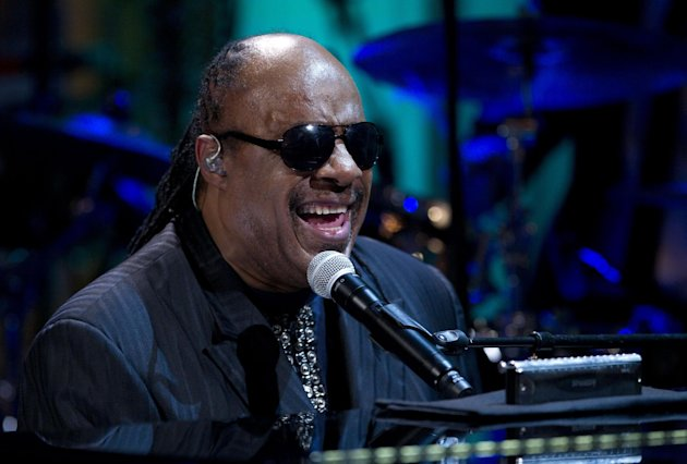 FILE - In this Wednesday, May 9, 2012 file photo, Stevie Wonder performs during the &quot;In Performance at the White House&quot; in the East Room of the White House in Washington, honoring songwriters Burt Bacharach and Hal David, recipients of the 2012 Library of Congress Gershwin Prize for Popular Song. Two people charged with extorting the Grammy-winning musician pleaded no contest to the charges on Monday Sept. 24, 2012, and have been sentenced to serve 292 days in jail. (AP Photo/Carolyn Kaster, File)