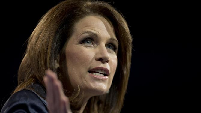 Rep. Michelle Bachmann, R- Minn., speaks at the 40th annual Conservative Political Action Conference in National Harbor, Md., Saturday, March 16, 2013. It may seem early, but the diehard activists who attended the three-day conference are already picking favorites in what could be a crowded Republican presidential primary in 2016.(AP Photo/Carolyn Kaster)