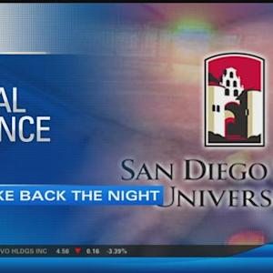 "Students at San Diego State University ""Take Back the Night"""
