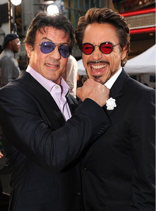Iron Man 2 LA Premiere 2010 Sylvester Stallone Robert Downey Jr.
